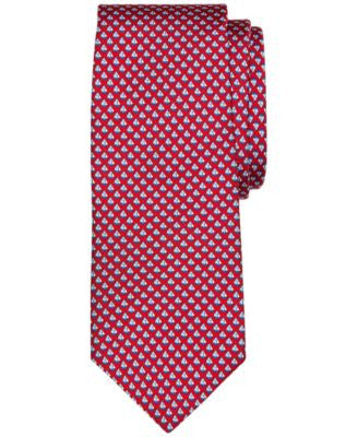 Brooks Brothers Men's Micro-Sailboat Pattern Classic Tie