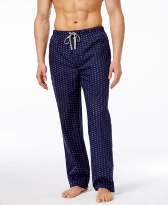 Michael Kors Men's Logo-Print Woven Pajama Pants