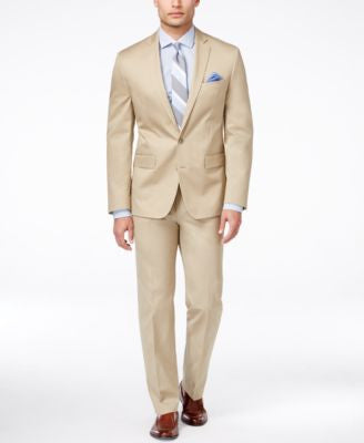 Ryan Seacrest Distinction Men's Slim-Fit Tan Suit Separates, Only at Vogily