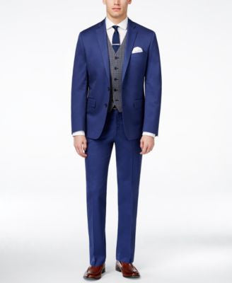 Ryan Seacrest Distinction Men's Slim-Fit Blue Suit Separates, Only at Vogily