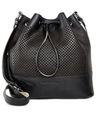 French Connection Nadia Small Perforated Drawstring Bag