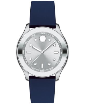 Movado Women's Swiss Bold Active Navy Silicone Strap Watch with Interchangeable Strap 38mm 3600394
