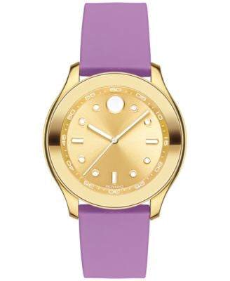 Movado Women's Swiss Bold Active Purple Silicone Strap Watch with Interchangeable Strap 38mm 3600390