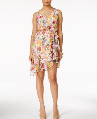 Thalia Sodi Floral-Print Ruffled A-Line Dress, Only at Vogily