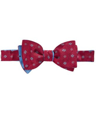 Brooks Brothers Men's Medallion and Dot Reversible To-Tie Bow Tie