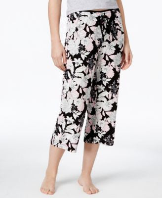 Alfani Floral-Print Cropped Pajama Pants, Only at Vogily