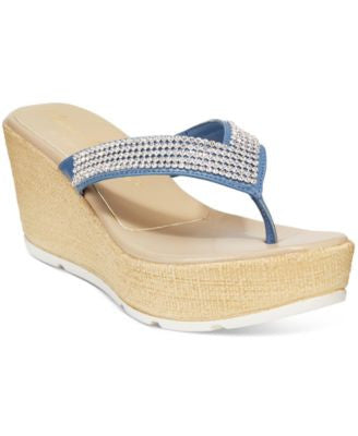 Athena Alexander by Callisto Bordeaux Wedge Sandals