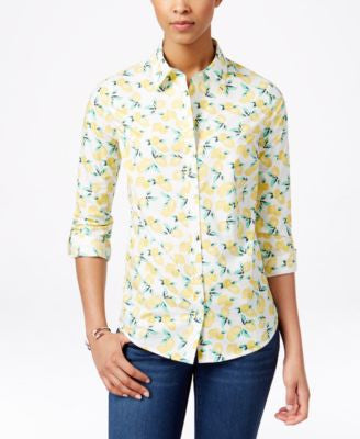 Charter Club Lemon-Print Shirt, Only at Vogily