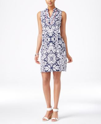 Charter Club Medallion-Print Shift Dress, Only at Vogily