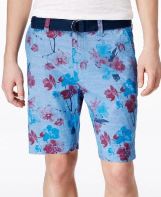 American Rag Men's Floral-Print Flat-Front Shorts, Only at Vogily