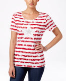 Karen Scott Striped Star-Graphic Top, Only at Vogily