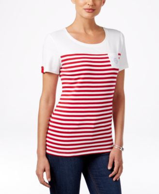 Karen Scott Striped T-Shirt, Only at Vogily