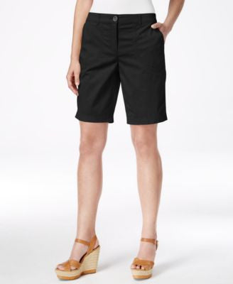 Karen Scott Relaxed-Fit Bermuda Shorts, Only at Vogily