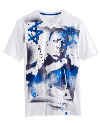 Sean John Men's Street Art Graphic-Print V-Neck T-Shirt