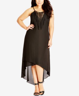 City Chic Plus Size High-Low Hem Dress