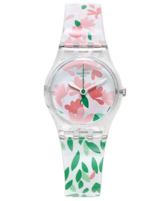 Swatch Women's Swiss Jackaranda Multicolor Print Silicone Strap Watch 25mm LK355