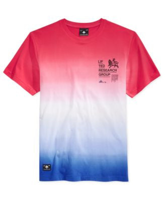 LRG Men's Roots Rock Ombré Stripe Graphic-Print Logo T-Shirt