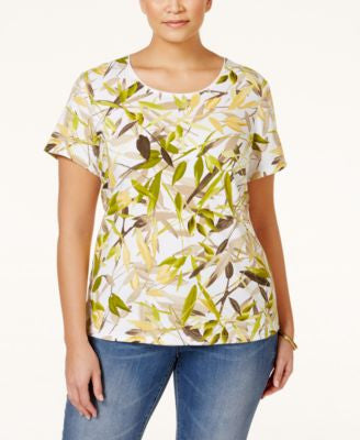 Karen Scott Plus Size Printed T-Shirt, Only at Vogily