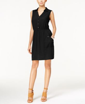 Alfani Petite Sleeveless Shirtdress, Only at Vogily