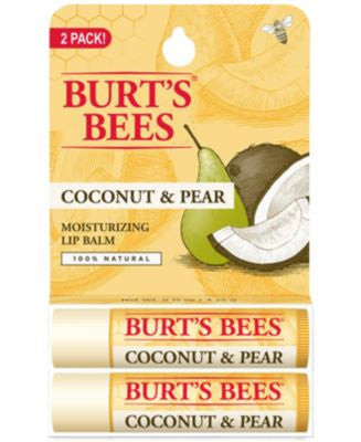 Burt's Bees Lip Balm, Coconut & Pear Blister Box 2-Pack