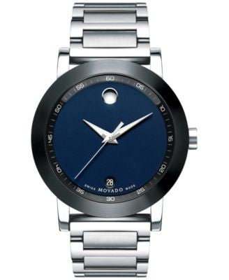 Movado Men's Swiss Museum Sport Stainless Steel Bracelet Watch 42mm 0607004