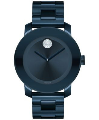 Movado Women's Swiss Bold Ink Blue Ion-Plated Stainless Steel Bracelet Watch 36mm 3600388
