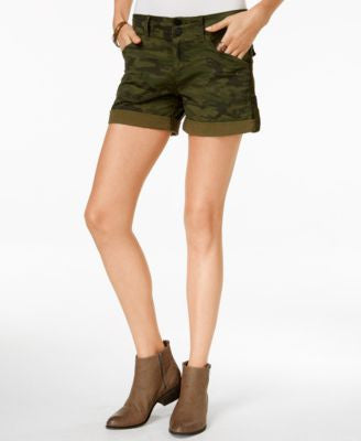 Sanctuary Camo-Print Cuffed Shorts
