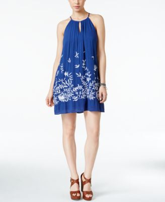 Lucky Brand Embroidered Halter Dress