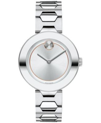 Movado Women's Swiss Bold Stainless Steel Bracelet Watch 32mm 3600381