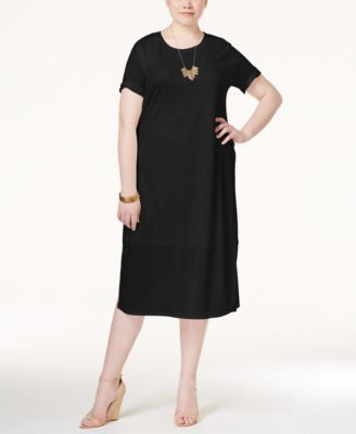 ING Plus Size Crepe T-Shirt Dress