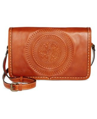 Patricia Nash Tooled Bari Square Flap Crossbody