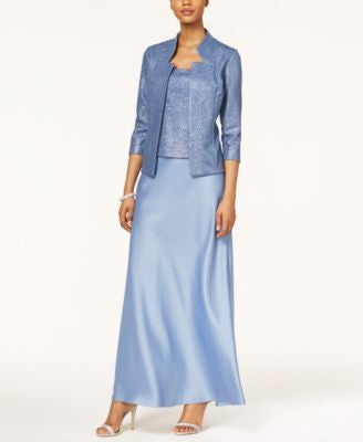 Alex Evenings Sleeveless A-Line Gown and Jacket