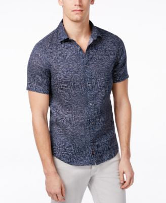 Michael Kors Men's Slim Fit Short-Sleeve Shirt