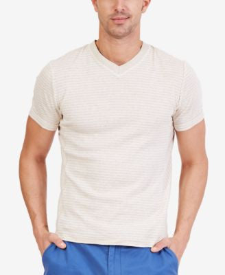 Nautica Men's Striped V-Neck Slim Fit T-Shirt