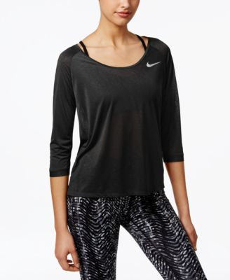 Nike Cool Breeze Dri-FIT Three-Quarter-Sleeve Top