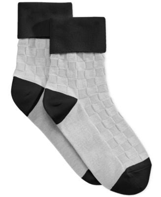 Hue Women's Basketweave Turncuff Socks