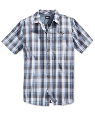 Fox Men's Plaid Woven Short-Sleeve Shirt