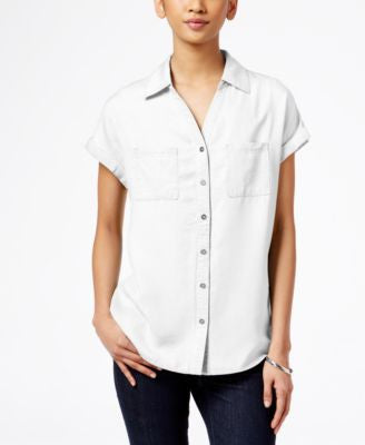 Style & Co. Short-Sleeve Denim Shirt, Only at Vogily