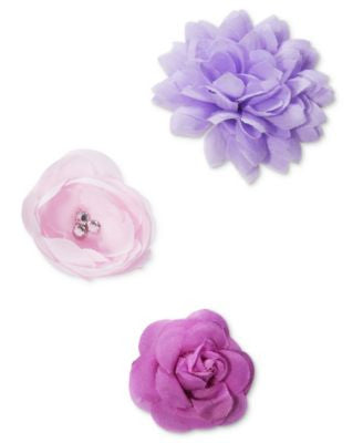 Josette Flower Hair Clips 3 Pack