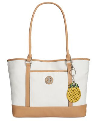Giani Bernini Canvas Fruit Large Tote, Only at Vogily