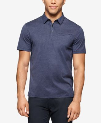 Calvin Klein Men's Slim-Fit Chambray Polo