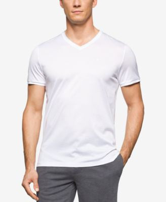 Calvin Klein Men's Slim-Fit V-Neck Short-Sleeve Shirt