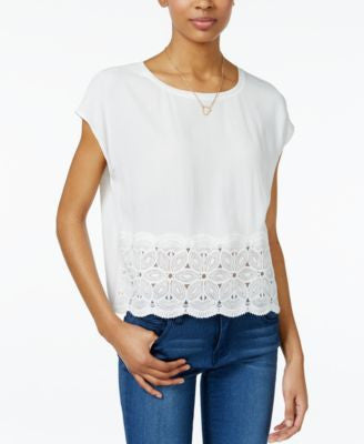 Maison Jules Crocheted-Trim Top, Only at Vogily