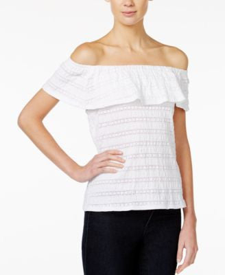 Maison Jules Off-The-Shoulder Flutter-Sleeve Top, Only at Vogily