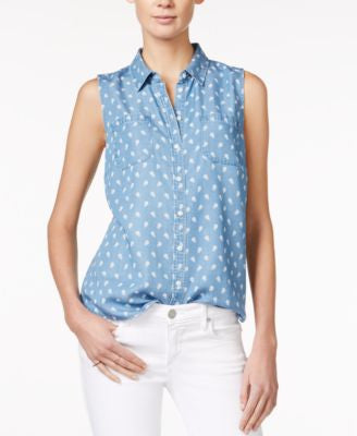 Maison Jules Sleeveless Printed Shirt, Only at Vogily