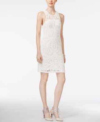 Bar III Crocheted Sheath Dress, Only at Vogily