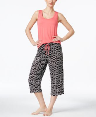 Alfani Tank & Printed Pajama Pants Sleep Separates, Only at Vogily