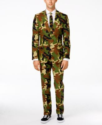OppoSuits Commando Slim-Fit Suit & Tie