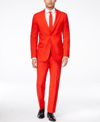 OppoSuits Red Devil Slim-Fit Suit & Tie