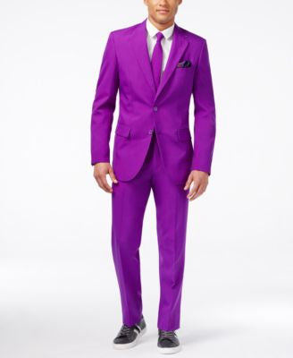OppoSuits Purple Prince Slim-Fit Suit & Tie